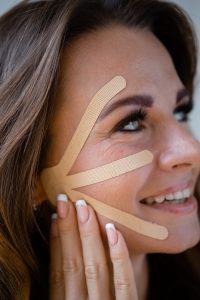 wrinkle tape on woman